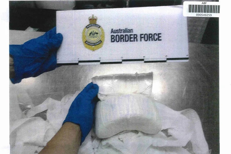 One of the packages of drugs intercepted by Border Force.